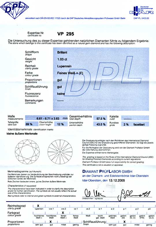 Foto 9 - Diamant 1,035ct Lupenrein Top Wesselton F, DPL! Diamond, D5620