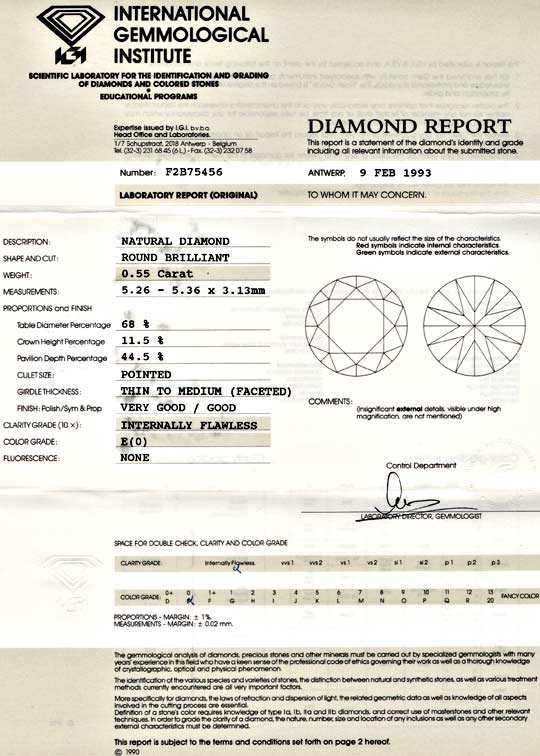 Foto 9, IGI-Diamant 0,55ct Brillant Lupenrein! River-E!! Juwel!, D5624