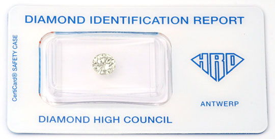 Foto 1, Diamant, HRD !, 0,946ct Brillant, Super Brillanz Juwel!, D5630