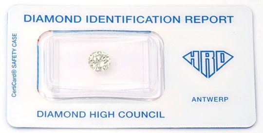 Foto 1, Diamant, HRD !, 0,946ct Brillant, Super-Brillanz Juwel!, D5630