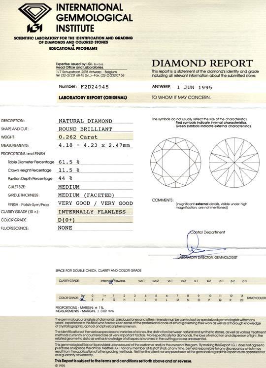 Foto 9, Diamant River-D, Lupenrein, 0.26ct, IGI!!, VG/VG Juwel!, D5634
