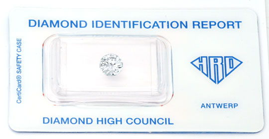 Foto 1, Diamant HRD 1,17ct Brillant Top-Wesselton-G VS1 Diamond, D5635