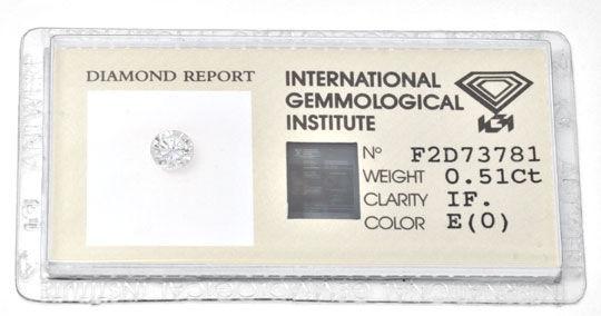 Foto 1, Diamant, IGI, 0,51ct Lupenrein River, VG/VG None Juwel!, D5636