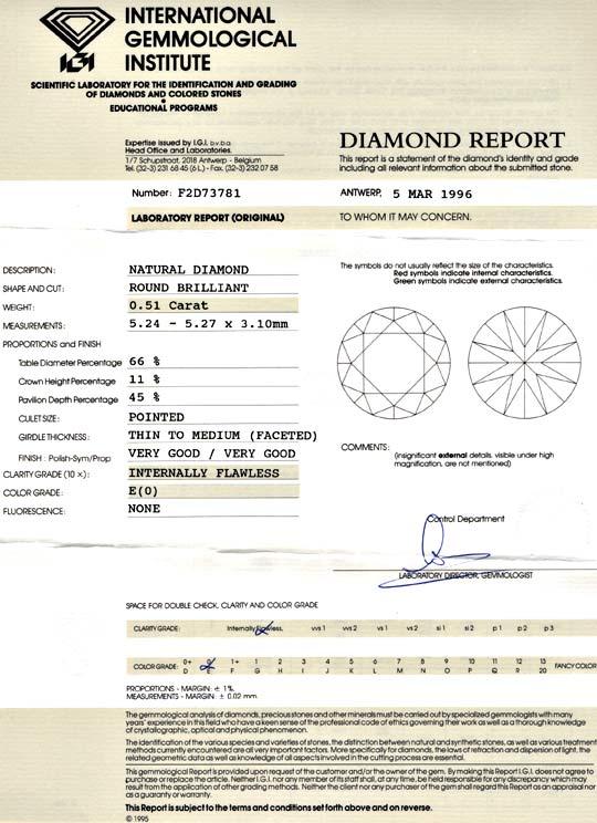 Foto 9, Diamant, IGI, 0,51ct Lupenrein River, VG/VG None Juwel!, D5636