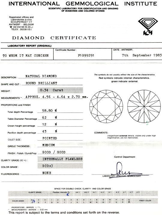 Foto 9, Diamant, IGI-Gutachten, 0,34ct Lupenrein River-D Juwel!, D5638