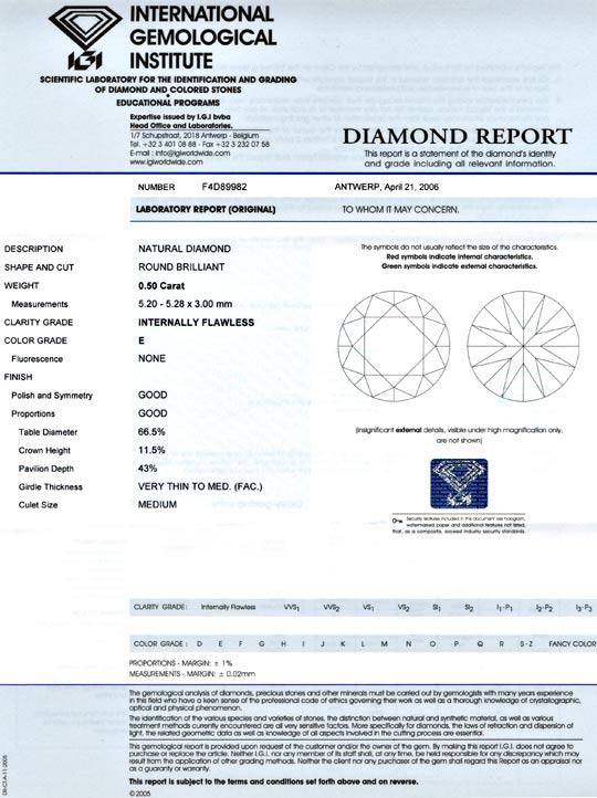 Foto 9, Diamant, IGI, Brillant, 0.50ct, Lupenrein, River Juwel!, D5642