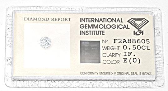 Foto 1, Diamant, IGI-Expertise!!! 0,50ct Lupenrein River Juwel!, D5643