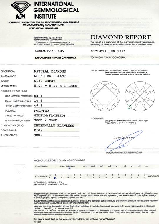 Foto 9, Diamant, IGI-Expertise!!! 0,50ct Lupenrein River Juwel!, D5643