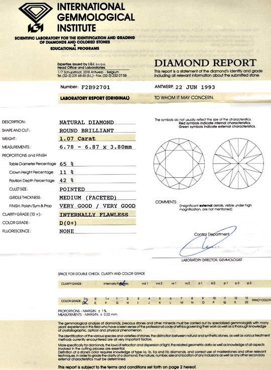 Foto 9, Best Diamant IGI 1,07ct Lupenrein River D VG/VG Diamond, D5645