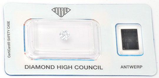 Foto 1, Diamant HRD 0,50ct Brillant VVS1 Top-Wesselton-G Juwel!, D5653