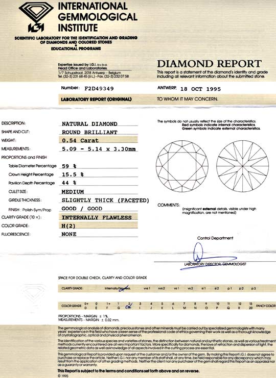 Foto 9, Diamant, IGI Brillant 0.54ct Lupenrein Wesselton Juwel!, D5666
