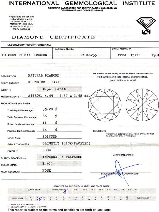 Foto 9, Diamant, IGI!! Brillant 0.34ct Lupenrein River-E Juwel!, D5668