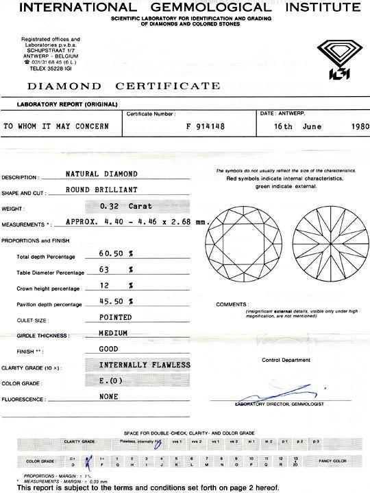 Foto 9, Diamant, IGI Brillant 0.32ct Lupenrein! River-E! Juwel!, D5669