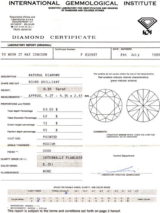 Foto 9, Diamant IGI 0.3ct Lupenrein Hochfeines Weiss / E Juwel!, D5670