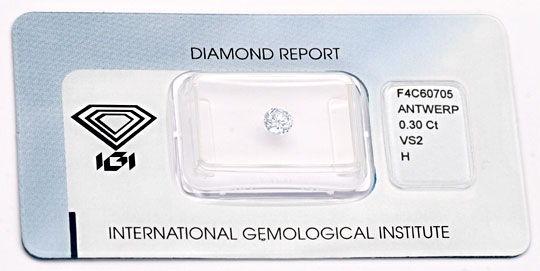 Foto 1, Diamant, IGI!!!, Brillant 0.30ct Weiss Wesselton Juwel!, D5671