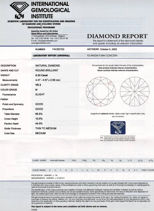 Foto 9, Diamant, IGI!! 0,33ct Brillant Wesselton Weiss H Juwel!, D5678