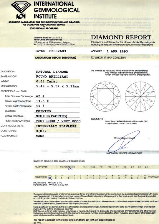 Foto 9, Bester Diamant 0,64ct Lupenrein River VG/VG, IGI Juwel!, D5679