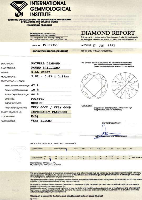 Foto 9, Diamant, 0,66 Brillant Lupenrein River VG VG IGI Juwel!, D5681