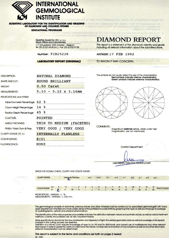 Foto 9, Diamant, IGI!!!, Brillant 0,50ct Lupenrein River Juwel!, D5684