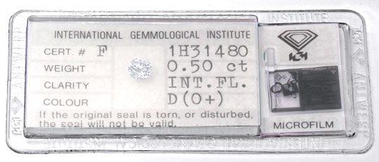 Foto 1, Diamant, IGI, Brillant 0,50ct Lupenrein, River-D Juwel!, D5685