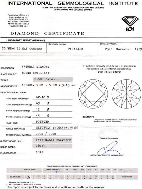 Foto 9, Diamant, IGI, Brillant 0,50ct Lupenrein, River-D Juwel!, D5685