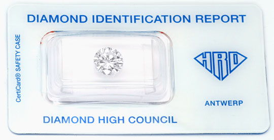 Foto 1, 2,105ct Diamant, HRD, Top Wesselton Plus F, VS1 Diamond, D5688