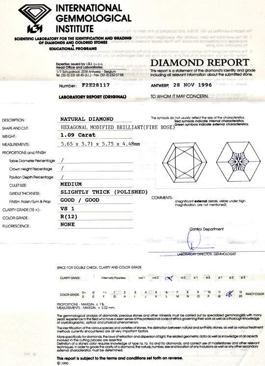 Foto 9, 1,09ct Fire Rose Diamant, IGI, Hellzitrone, VS1, Juwel!, D5689