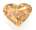 Foto 2, Herzdiamant 0,65ct Natural Fancy Greenish Orange Juwel!, D5696