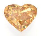 Foto 2, Herzdiamant 0,65ct Natural Fancy Greenish Orange Juwel!, D5696
