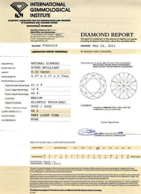 Foto 9, Natural Very Light Pink Brillant, 0,33ct Diamant Juwel!, D5700