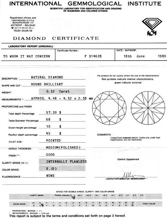 Foto 9, Diamant, IGI Brillant 0,32 Carat Lupenrein River Juwel!, D5702