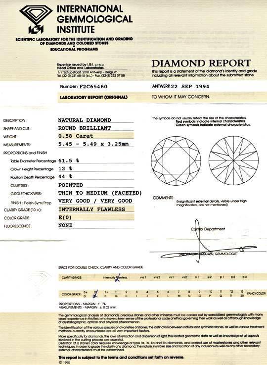 Foto 9, Diamant, IGI, 0.58ct Lupenrein, Hochfeines Weiss Juwel!, D5705