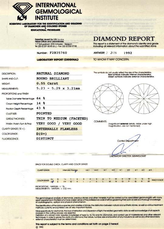 Foto 9, Der Beste Diamant, IGI, 0,55ct Lupenrein River D Juwel!, D5706