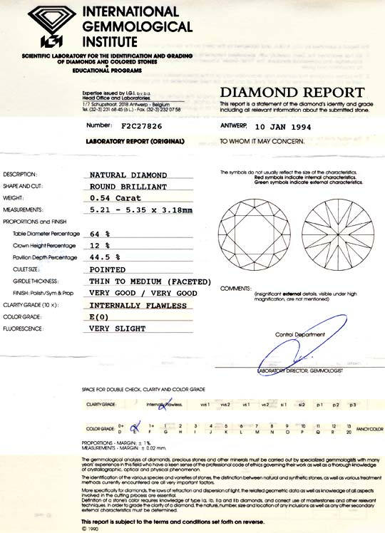 Foto 9, Diamant IGI 0,54ct Brillant Lupenrein River VGVG Juwel!, D5707