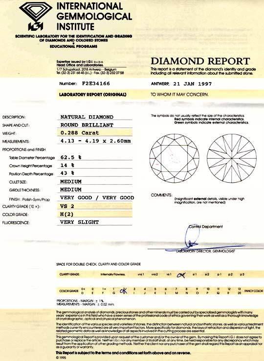 Foto 9, Diamant, IGI, Brilliant 0,288ct Weiss-H VS2 VG/VG Juwel, D5709
