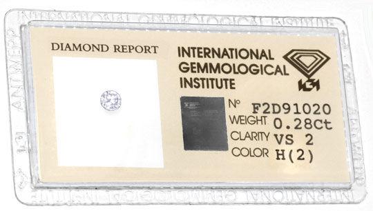 Foto 1, Diamant, IGI, Brillant 0,28ct Wesselton VS VG/VG Juwel!, D5710