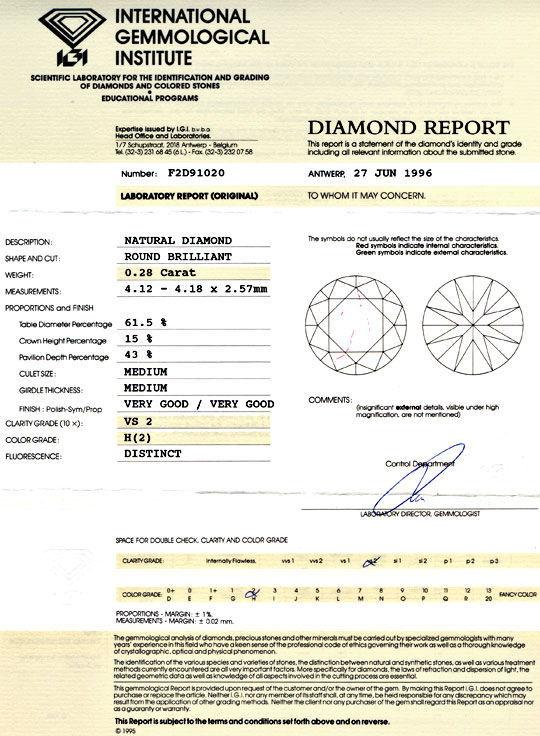 Foto 9, Diamant, IGI, Brillant 0,28ct Wesselton VS VG/VG Juwel!, D5710
