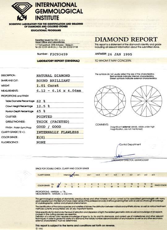 Foto 9, Diamant IGI, 1,01ct Einkaräter Lupenrein River, Diamond, D5720