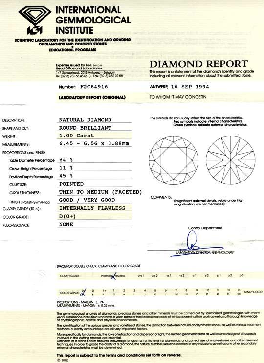 Foto 9, Der Beste Diamant 1,00ct Lupenrein River-D VGVG Diamond, D5721