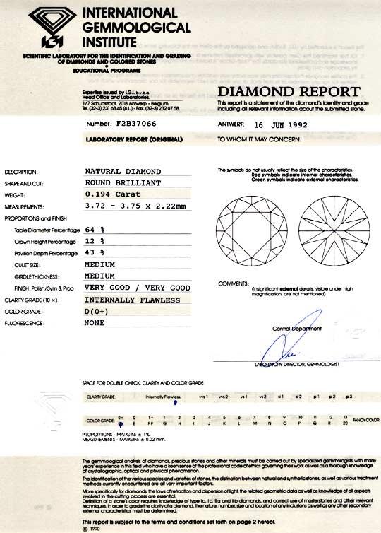 Foto 9, Diamant Beste Qualität 0,194ct Lupenrein River-D Juwel!, D5726
