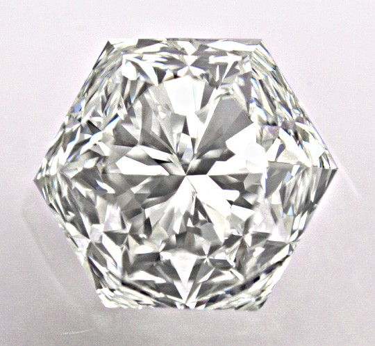 Foto 3, Super-Diamant 2,12ct VVS1 HRD Fire-Rose Hexagon Diamond, D5727