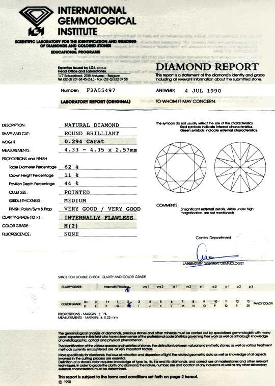 Foto 9, Diamant IGI 0,294ct Brillant Lupenrein Wesselton Juwel!, D5738