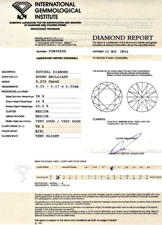 Foto 9, Diamant IGI 0,27 Brillant River Hochfeines Weiss Juwel!, D5742