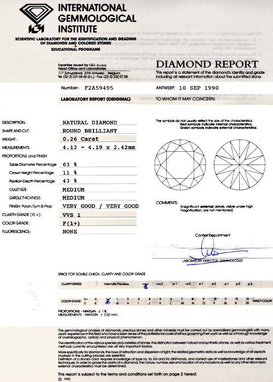 Foto 9 - Diamant IGI 0,26ct Brilliant, Top Wesselton Plus Juwel!, D5744