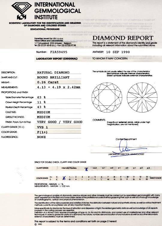 Foto 9, Diamant IGI 0,26ct Brilliant, Top Wesselton Plus Juwel!, D5744