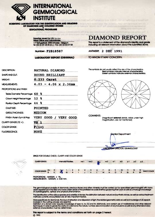 Foto 9 - Diamant IGI 0,233ct Brillant, Top Wesselton Plus Juwel!, D5753