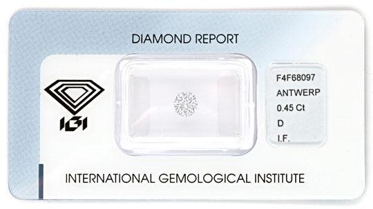 Foto 1, Der Beste Diamant, IGI 0,45ct Lupenrein River-D, Juwel!, D5770