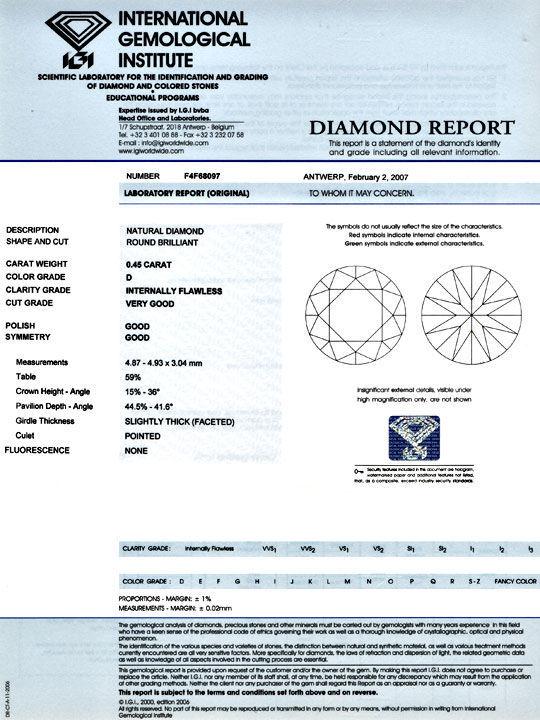 Foto 9, Der Beste Diamant, IGI 0,45ct Lupenrein River-D, Juwel!, D5770