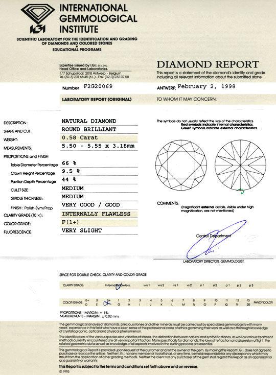 Foto 9, IGI, Diamant 0,58ct Lupenrein, feines Weiss Plus Juwel!, D5774