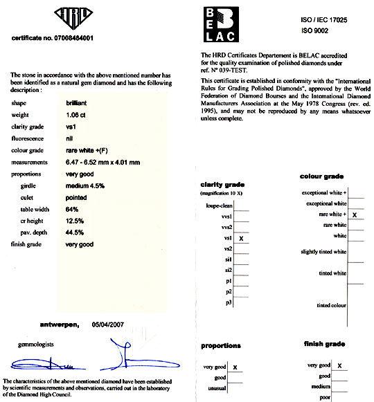 Foto 9, Diamant 1,06ct HRD Top-Wesselton-Plus VS1 VG/VG Diamond, D5775